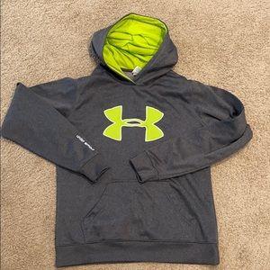 Under Armour gray hooded sweatshirt hoodie M Med